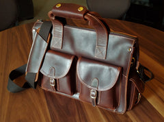 The Leather Accessory Store Genuine Leather Laptop Bag
