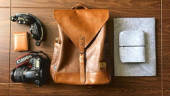 The Leather Accessory Store Small Stylish Leather Backpack
