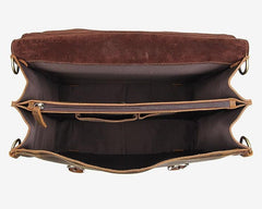 The Leather Accessory Store Genuine Leather Briefcase Laptop Bag