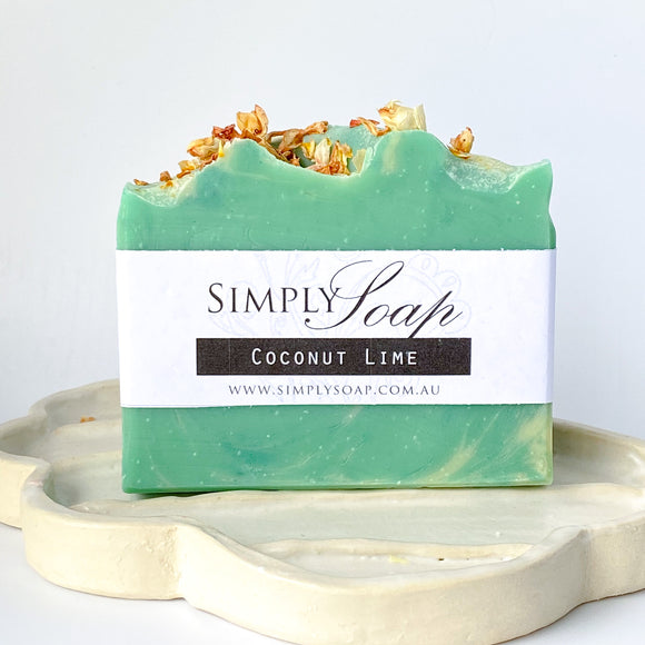 Coconut Lime handmade soap