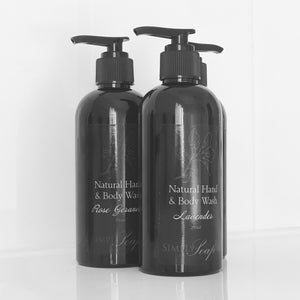 Hand & Body Wash Trio lavender Rose Geranium