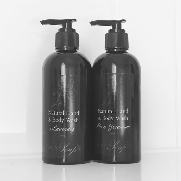 Hand & Body Wash Duo Lavender Rose Geranium
