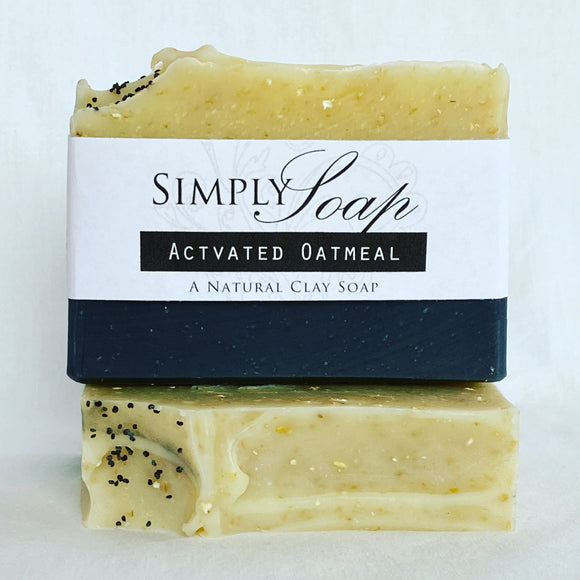 Activated Oatmeal handmade soap