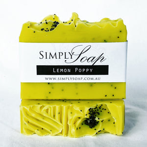Lemon Poppy handmade soap
