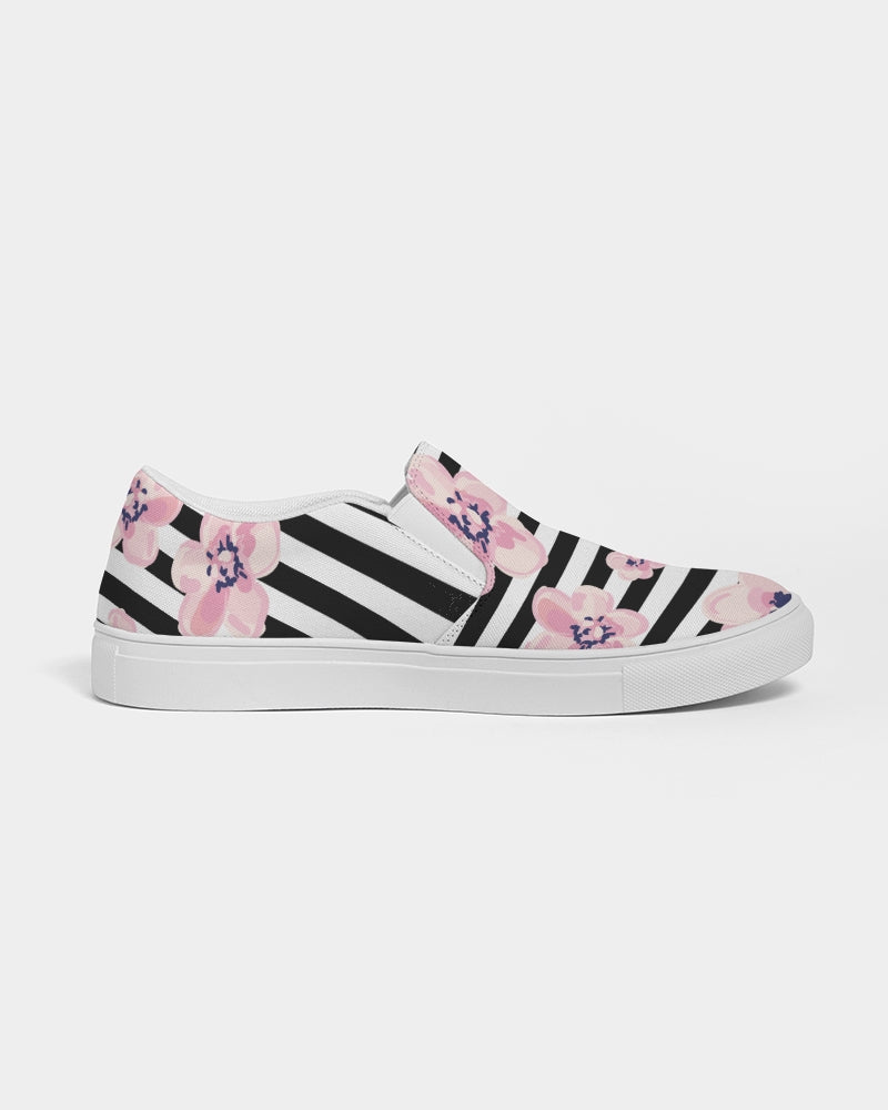 Zebra Crossing Women's Slip-On Canvas Shoe