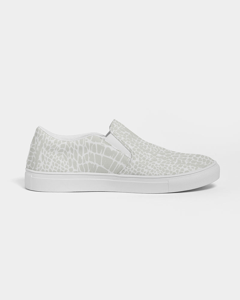 Alligator Print Women's Slip-On Canvas Shoe