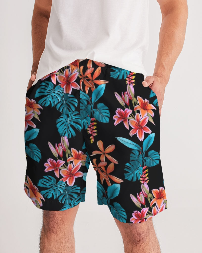 Floral Party Men's Jogger Shorts