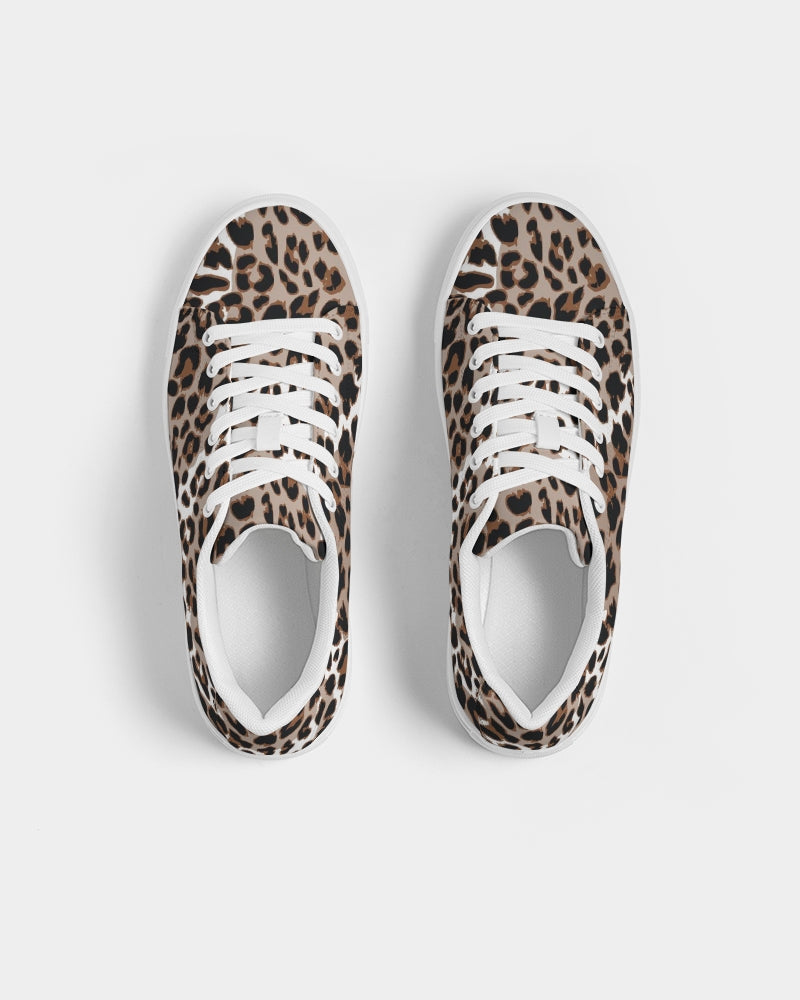 Leopard Fur Women's Faux-Leather Sneaker