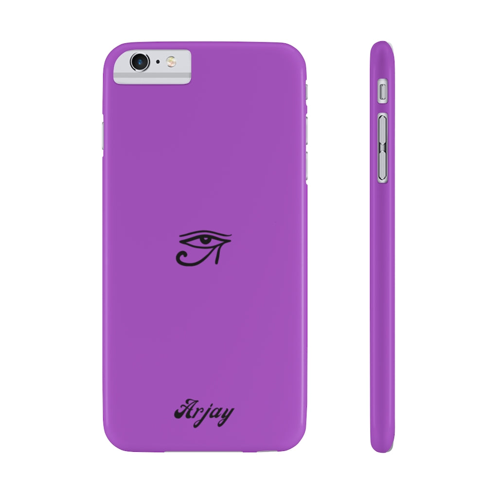Third Eye Purple Solid Color Slim Phone Cover