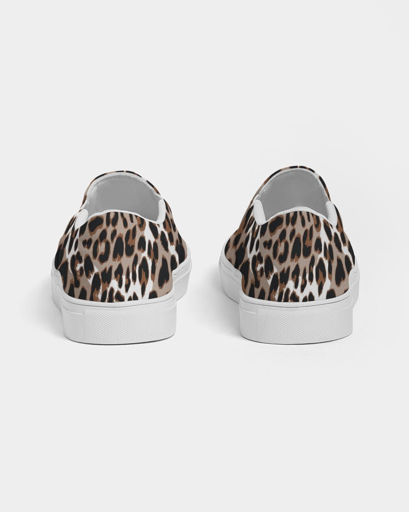 Leopard Fur Women's Slip-On Canvas Shoe