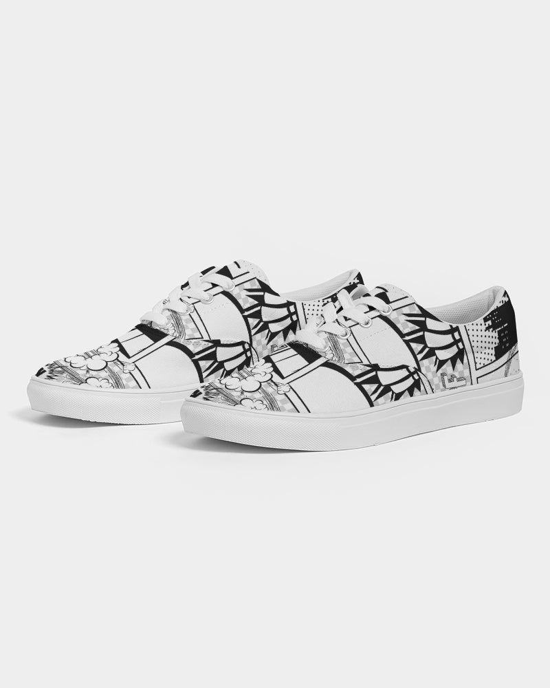 Retro Comic Women's Lace Up Canvas Shoe