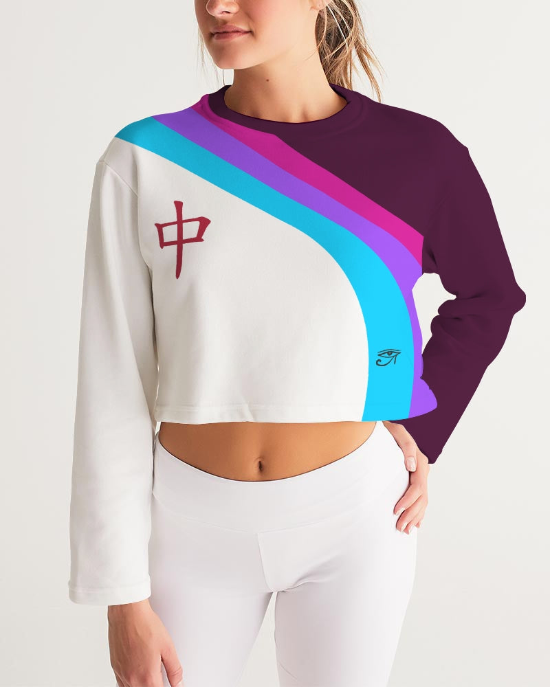 Egyptian ninja Women's Cropped Sweatshirt