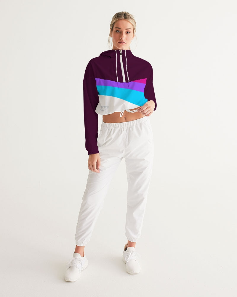Egyptian ninja Women's Cropped Windbreaker