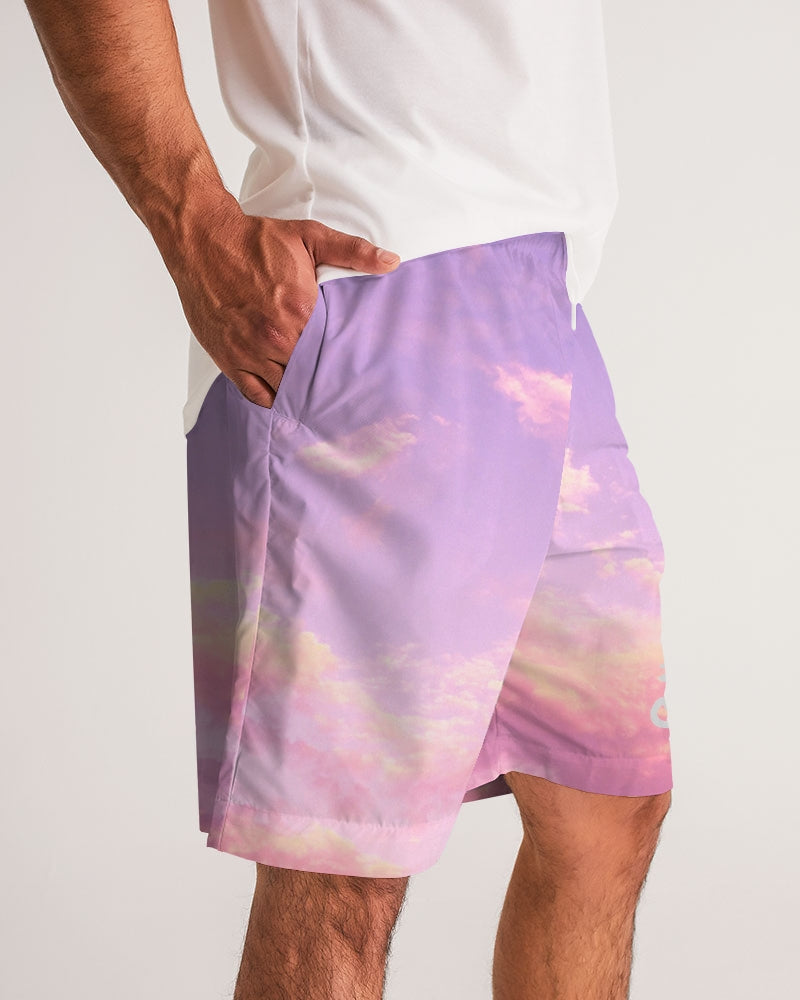 Sentir tu piel clouds Men's Jogger Shorts