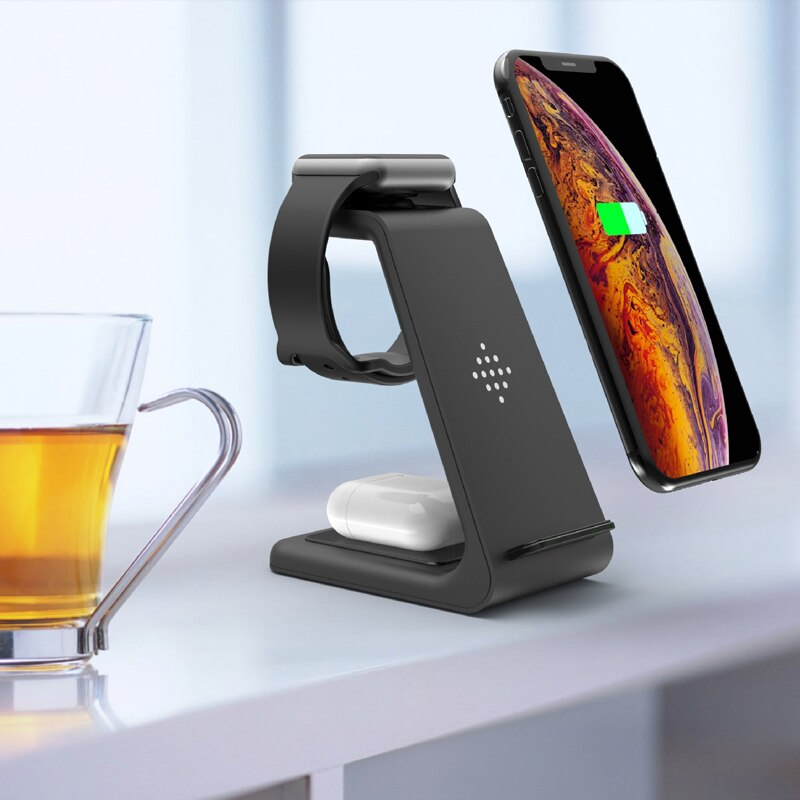3 in 1 Phone , Smart Watch, Earbuds, wireless charging station.