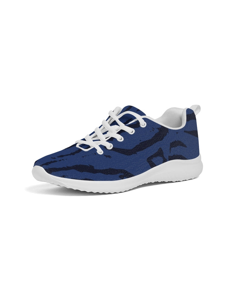 Blue Animal Fur Texture Men's Athletic Shoe