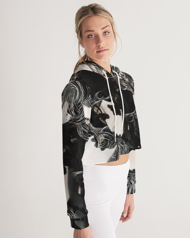 ORCHID Corruption Women's Cropped Hoodie
