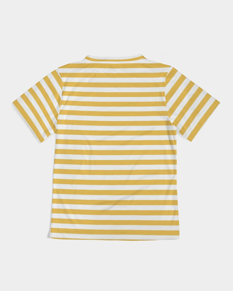 Bright Yellow Strips Girl's Tee