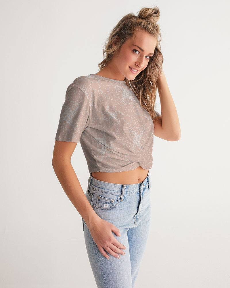 Pineapple Women's Twist-Front Cropped Tee