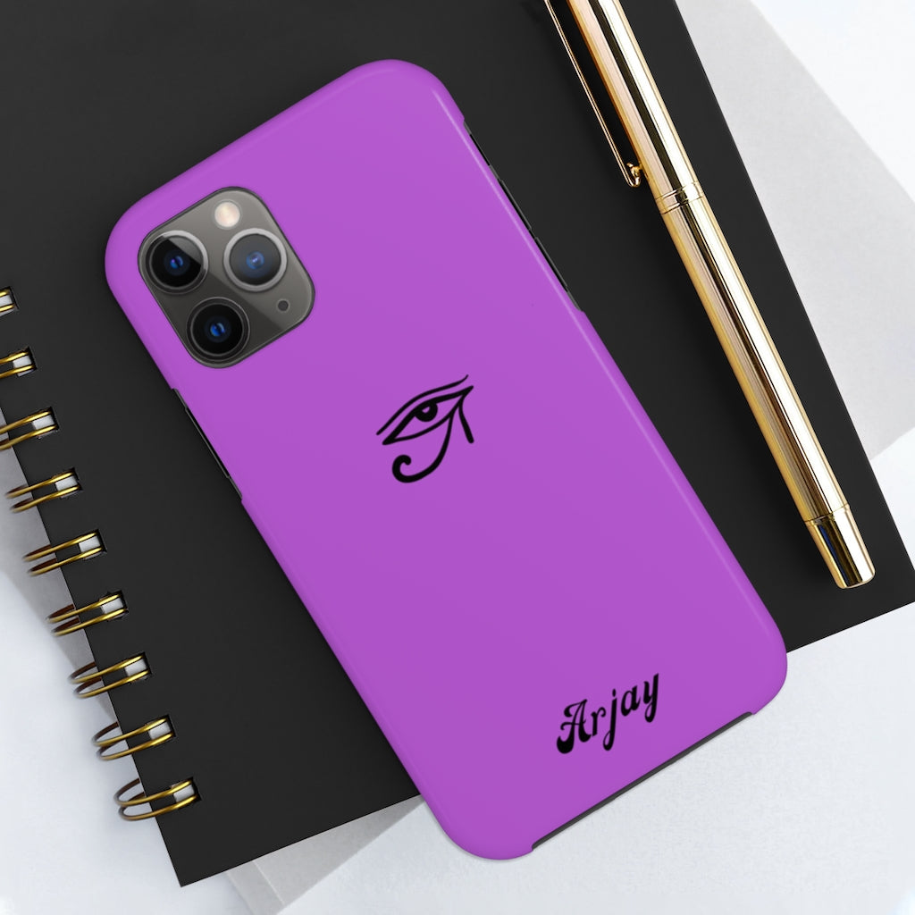 Third Eye Purple Solid color Tough Phone Case Case