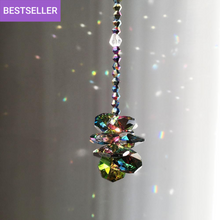 Load image into Gallery viewer, Dark Octagon - Crystal Suncatcher