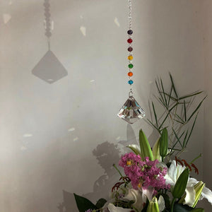 Clear Diamond - 40MM Crystal Suncatcher