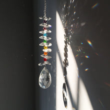 Load image into Gallery viewer, Rainbow Teardrop -  50 MM Crystal Suncatcher