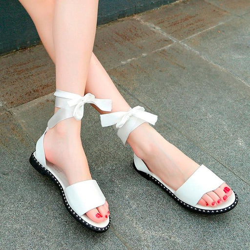 Fashion Women Leather Shoes Sandals Summer