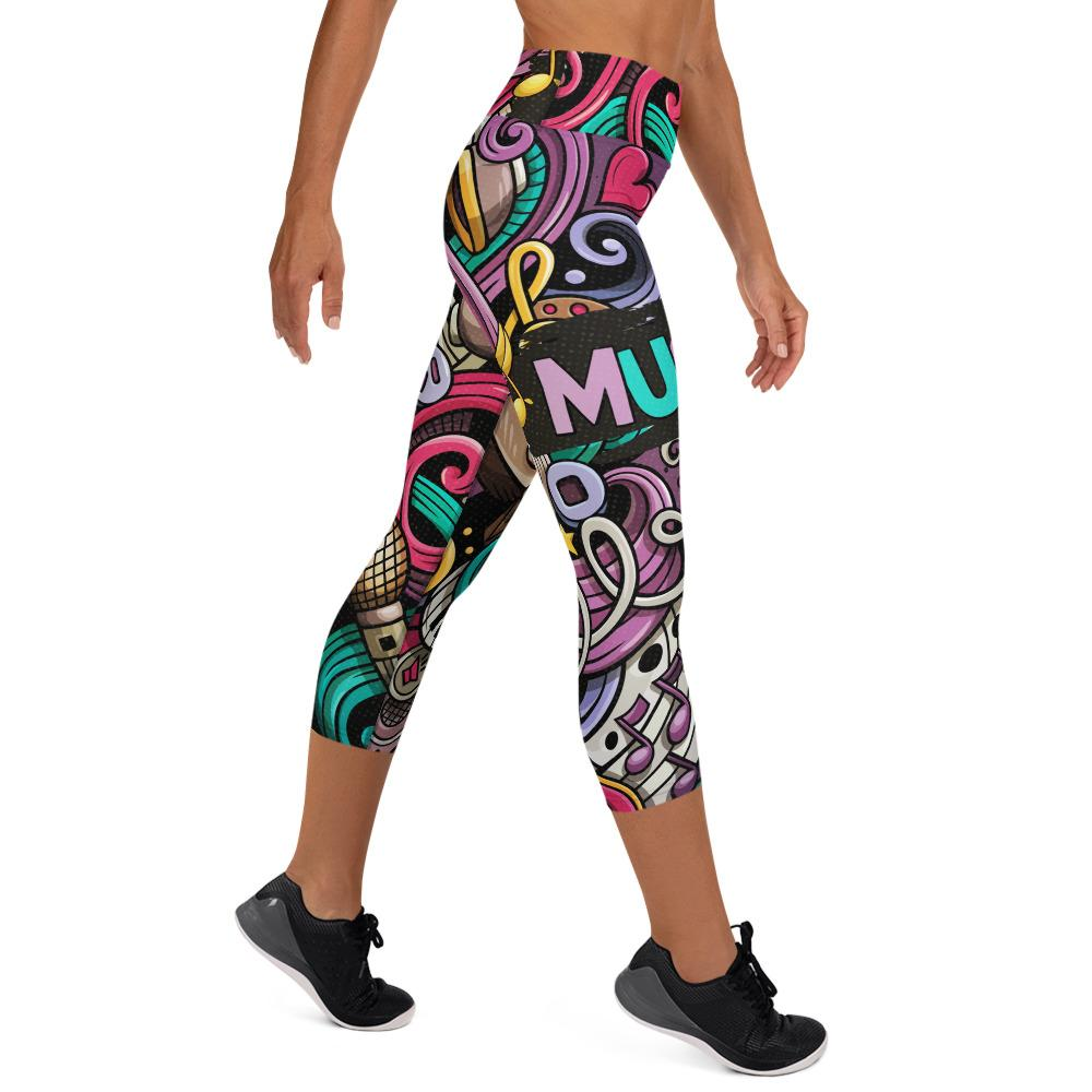Music Yoga Capri Leggings