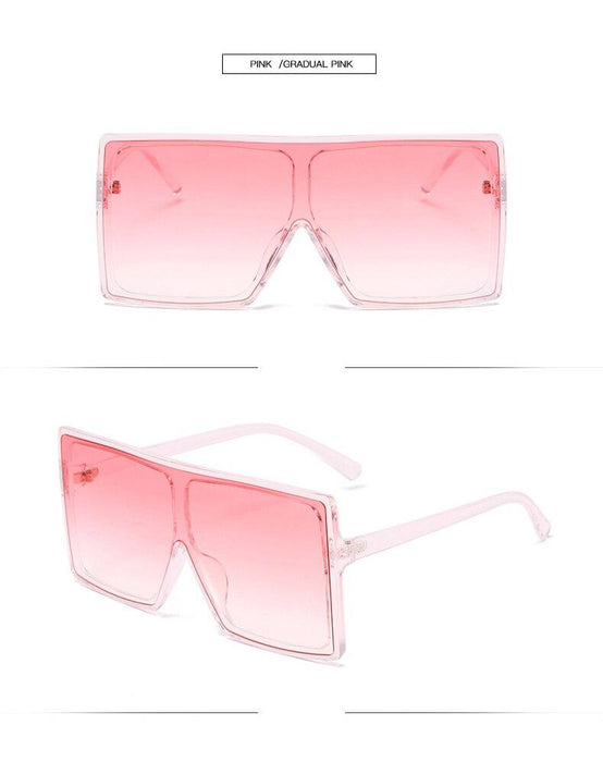 Oversized Square Sunglasses Women Fashion Gradient Sunglasses Men