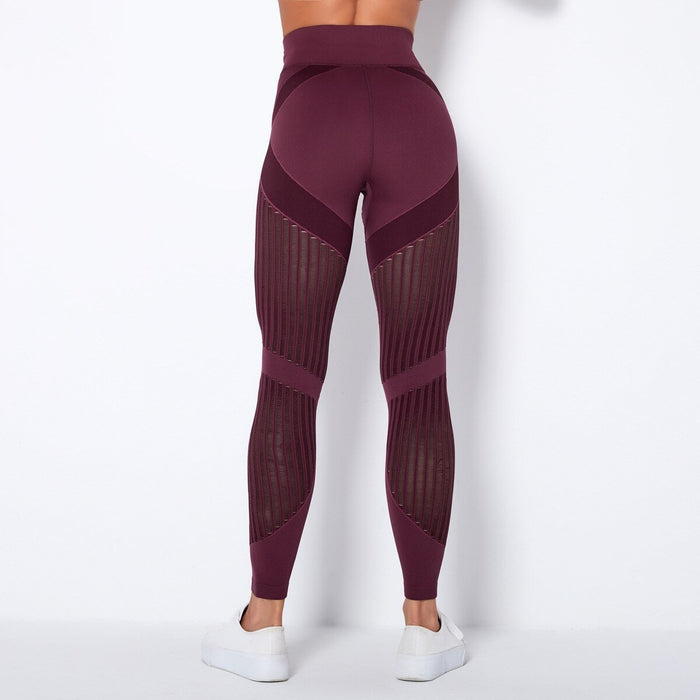 Autumn Seamless Hollow Out Yoga Leggings Work Out Fitness Gym Yoga