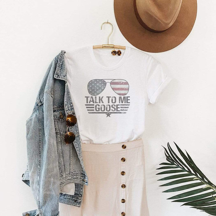 Talk To Me Goose Patriotic Graphic T-Shirt