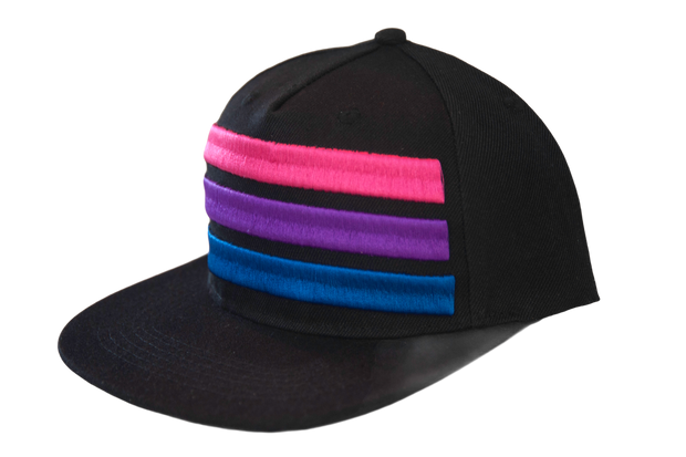 Bisexual Pride Flat Brim Hat Snap Back