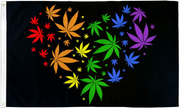 Marijuana Love Pride Flag 3' x 5'