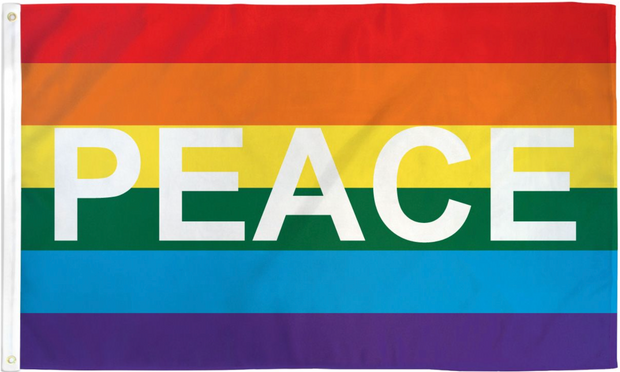 Rainbow Peace Pride Flag 3' x 5'