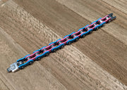 Trans Pride Stainless Steel Bike Chain Bracelet