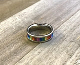 Rainbow Gem Stainless Steel Ring