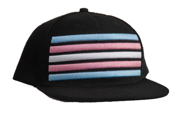 Trans Flag Flat Billed Snap Back Cap