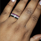 Asexual Pride Stainless Steel Ring