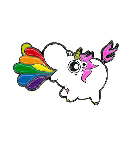 Unicorn puking rainbows Enamel Pin