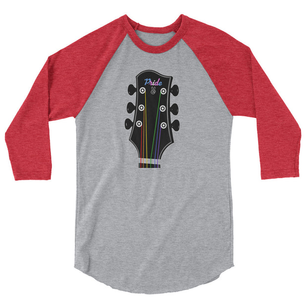 Pride Guitar 3/4 sleeve raglan shirt