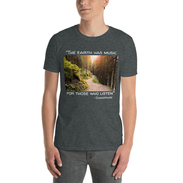 """The Earth has Music"" Shakespeare Short-Sleeve Unisex T-Shirt"