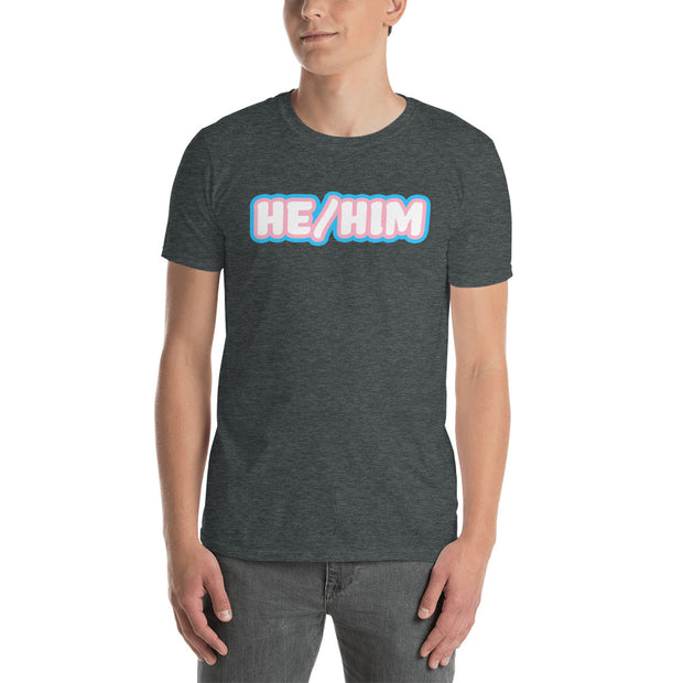 He/Him Trans Pride Short-Sleeve Unisex T-Shirt