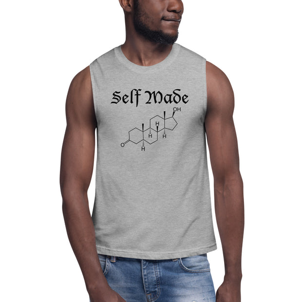 """Self Made"" Testosterone Symbol Muscle Shirt"