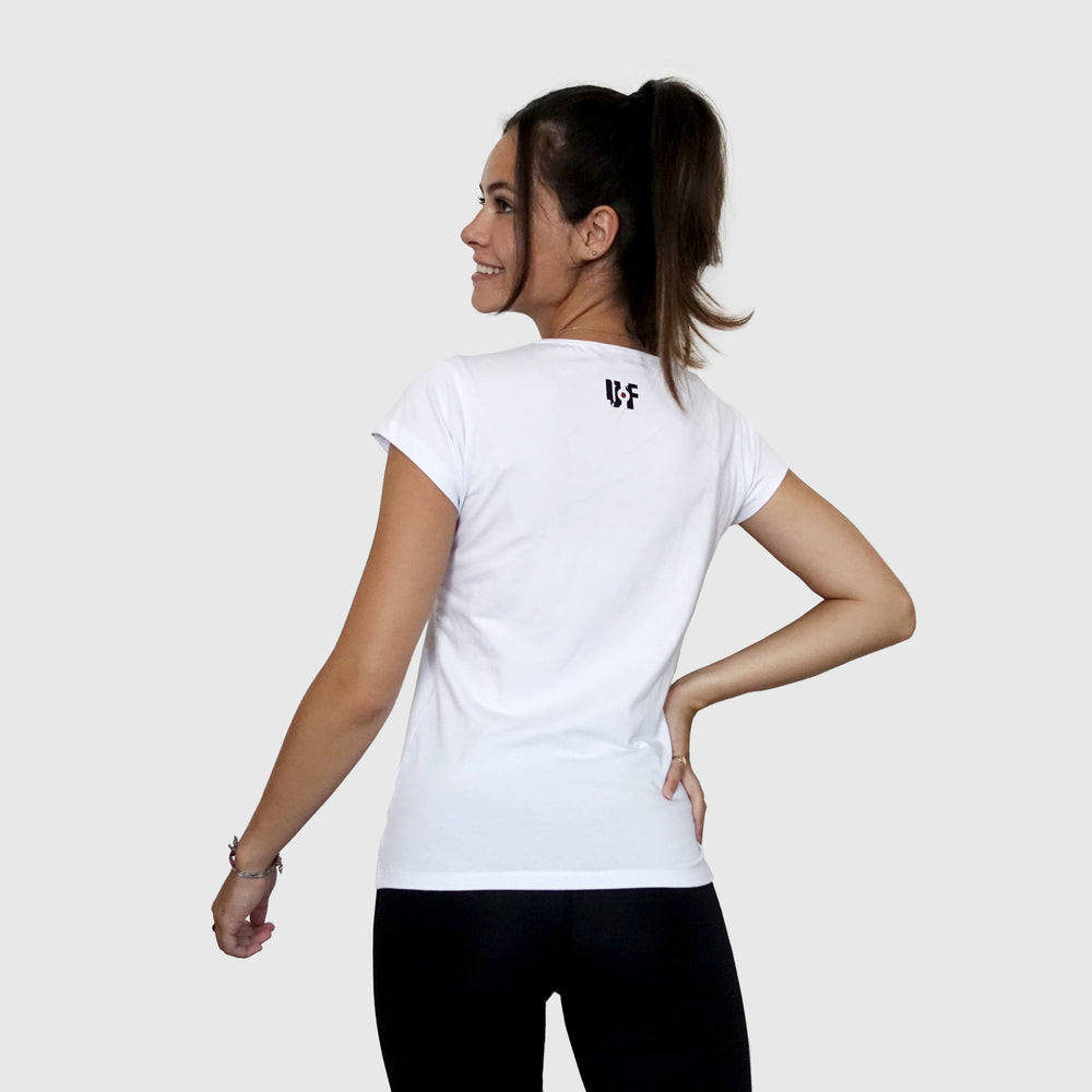 Tee-shirt ultra white femme sportwear training