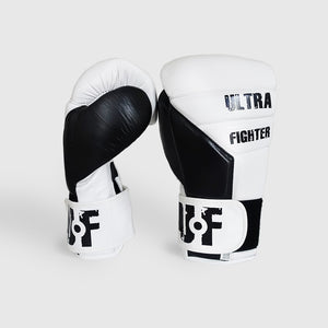 Load image into Gallery viewer, Gants de boxe blanc en cuir pour mma, kickboxing, muay thai