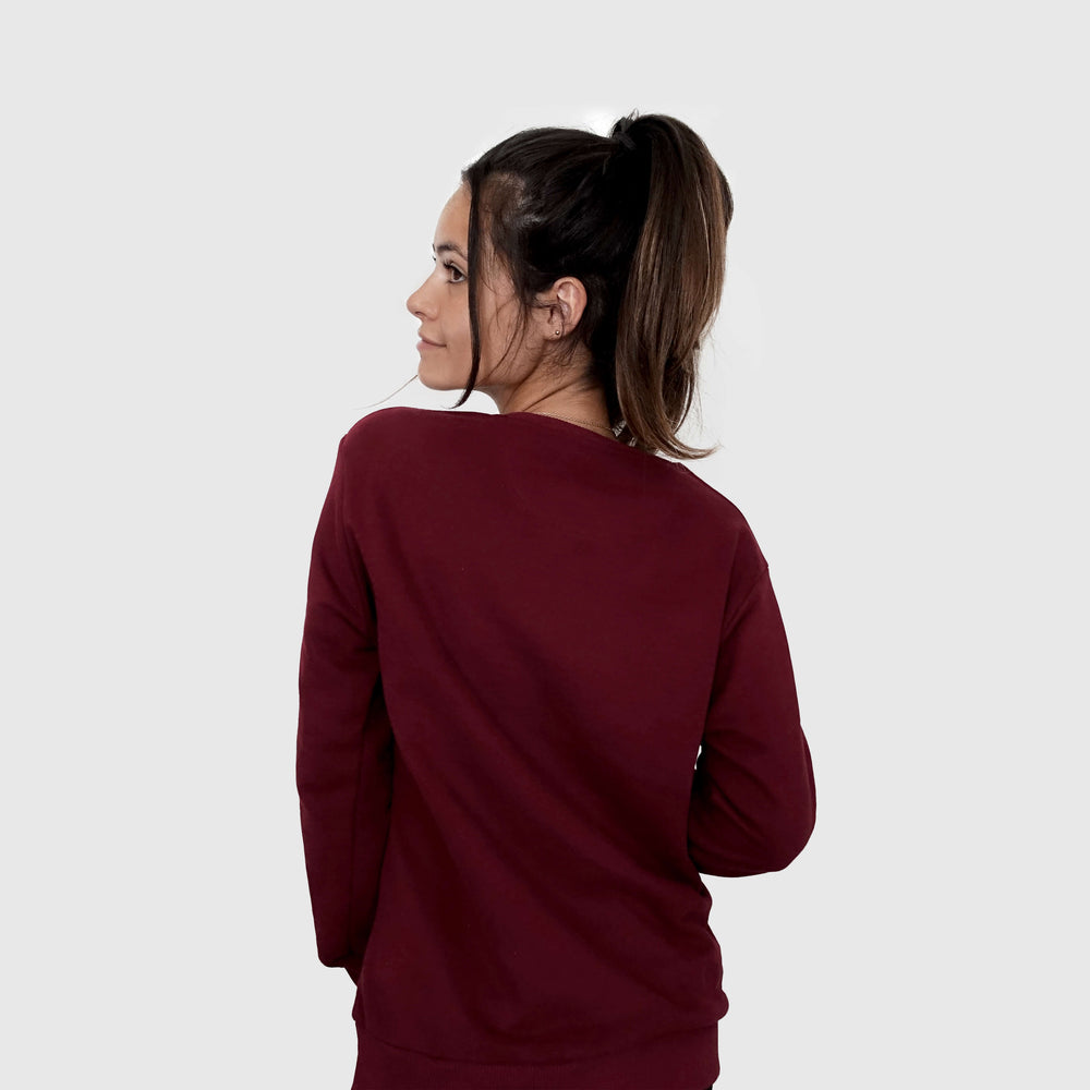Load image into Gallery viewer, Sweat bordeaux femme sportwear training