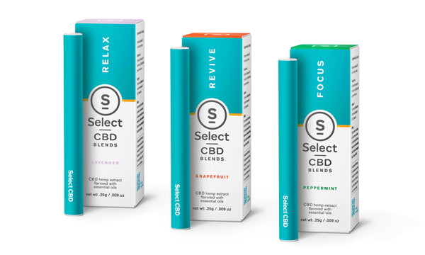 Select CBD Disposable Vape Pens 125MG