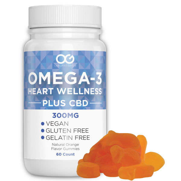 Omega-3 and CBD Vitamin Gummies (60 Count)