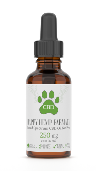 250MG Pet Broad Spectrum CBD Tincture - CBD Oil for Pets